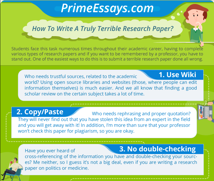 How To Write A Truly Terrible Research Paper